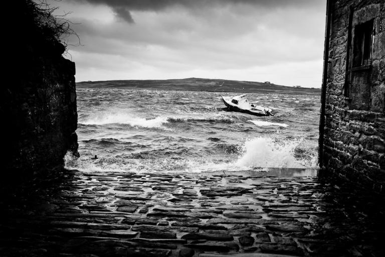 High winds in Lerwick