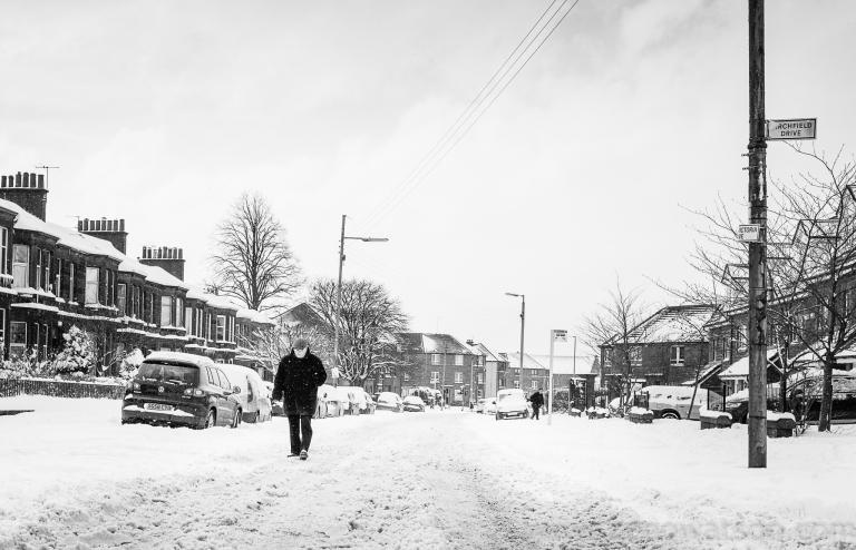 Snowfall in Scotstoun By Zeno Watson-3949