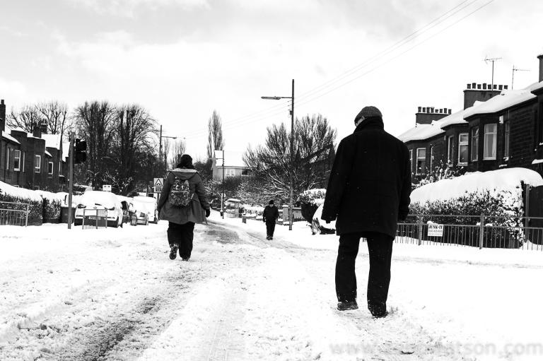 Snowfall in Scotstoun By Zeno Watson-3965