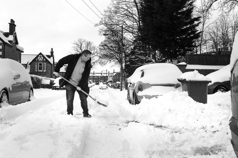 Snowfall in Scotstoun By Zeno Watson-3979