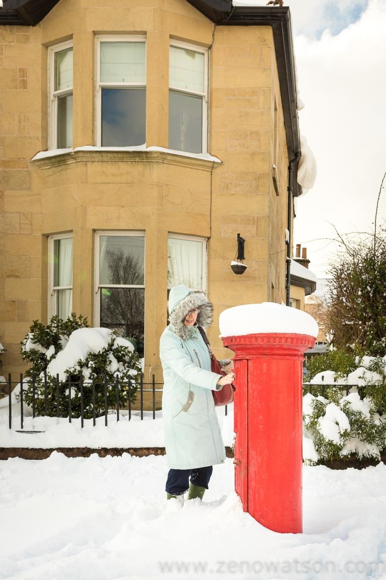 Snowfall in Scotstoun By Zeno Watson-4001