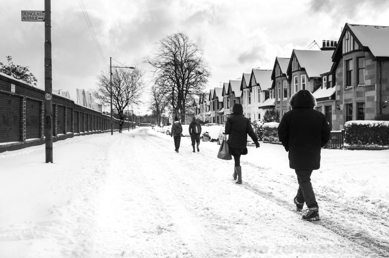 Snowfall in Scotstoun By Zeno Watson-4014