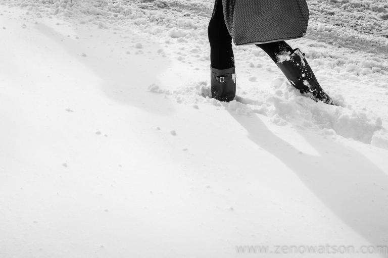 Snowfall in Scotstoun By Zeno Watson-4020