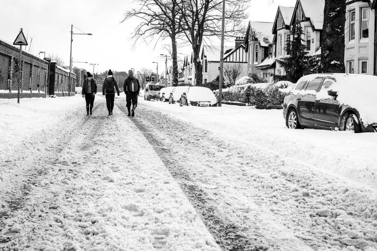 Snowfall in Scotstoun By Zeno Watson-4023