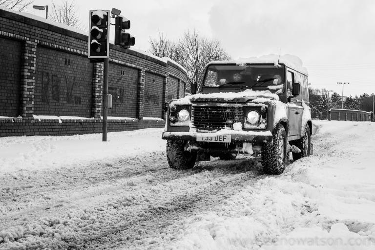 Snowfall in Scotstoun By Zeno Watson-4029