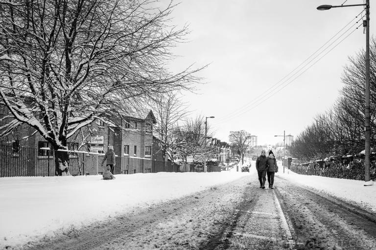 Snowfall in Scotstoun By Zeno Watson-4046