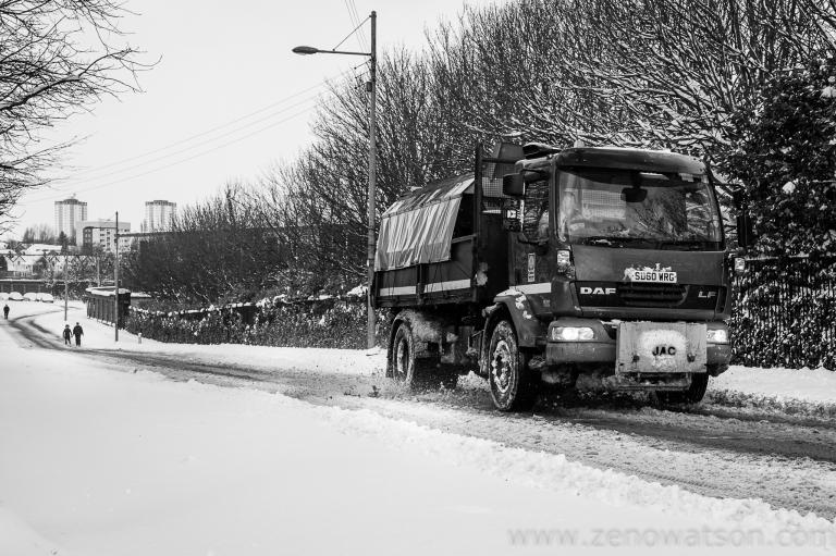 Snowfall in Scotstoun By Zeno Watson-4052