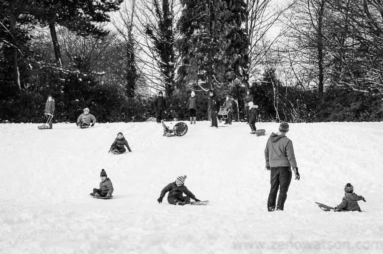 Snowfall in Scotstoun By Zeno Watson-4095