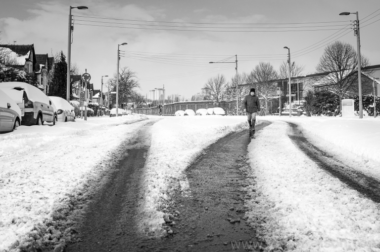 Snowfall in Scotstoun By Zeno Watson-4176
