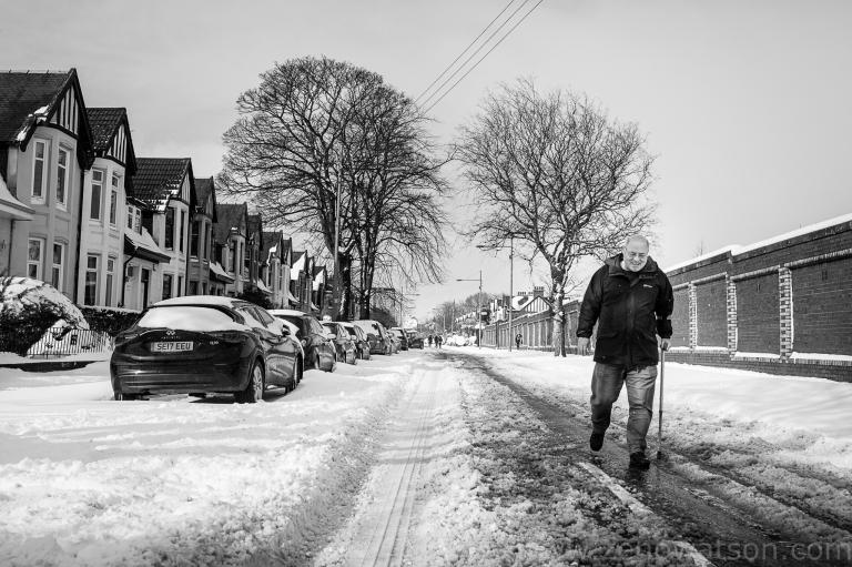 Snowfall in Scotstoun By Zeno Watson-4208