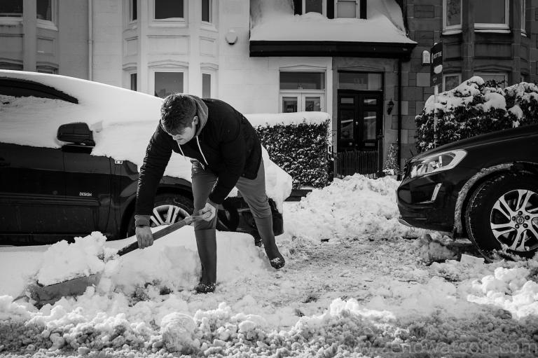 Snowfall in Scotstoun By Zeno Watson-4231