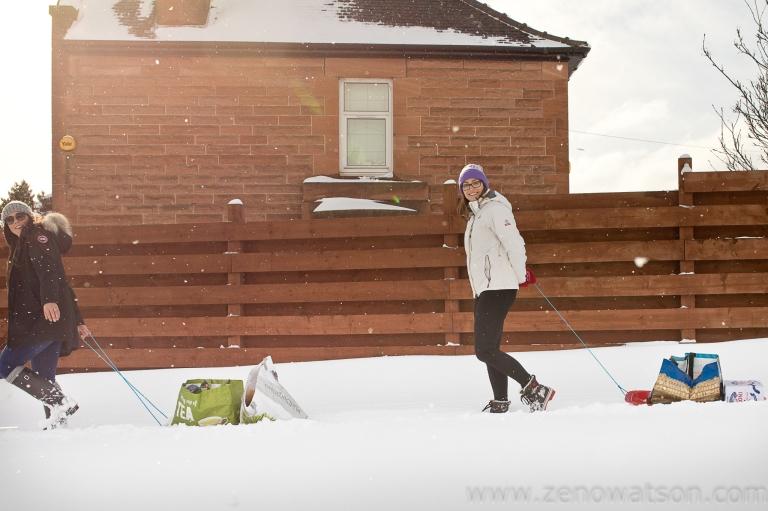 Snowfall in Scotstoun By Zeno Watson-4262